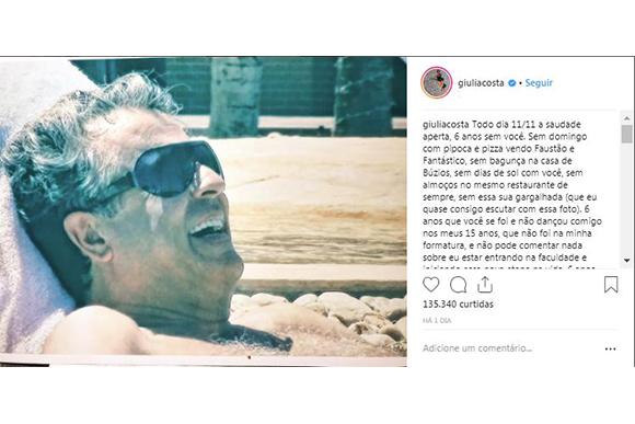 (Foto: Reprodução / Instagram @giuliacosta)