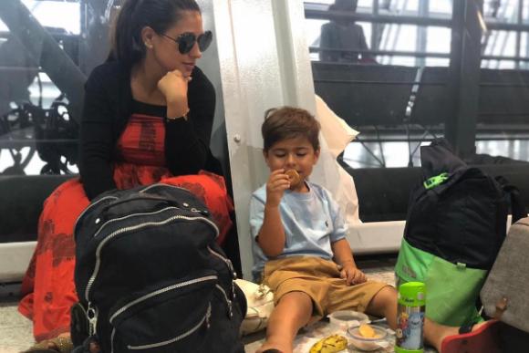 Simara faz lanche improvisado com o filho. (Foto: Reprodução/ Instagram)
