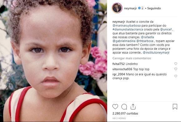Neymar | Foto: Reprodução Instagram / @neymarjr