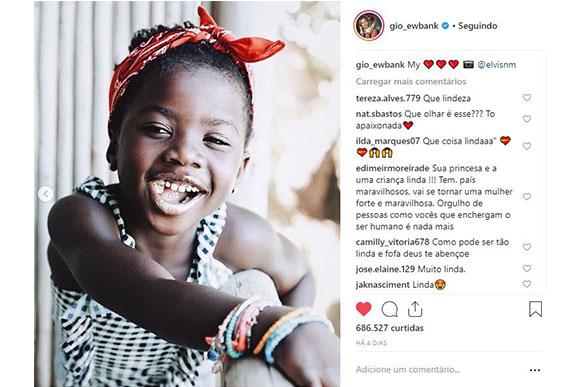 Muitos sorrisos no ensaio de Titi (Foto: Reprodução/ Instagram @gio_ewbank)