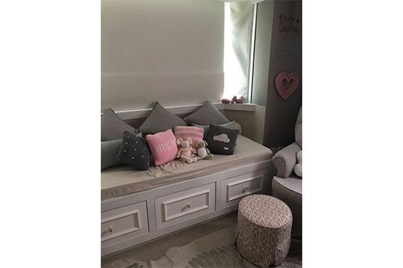 Lethícia arrasou na hora de escolher as cores do quarto da filha (Foto: Divulgação)