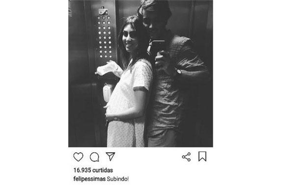 Foto que Felipe Simas publicou no instagram (Foto: reprodução instagram)