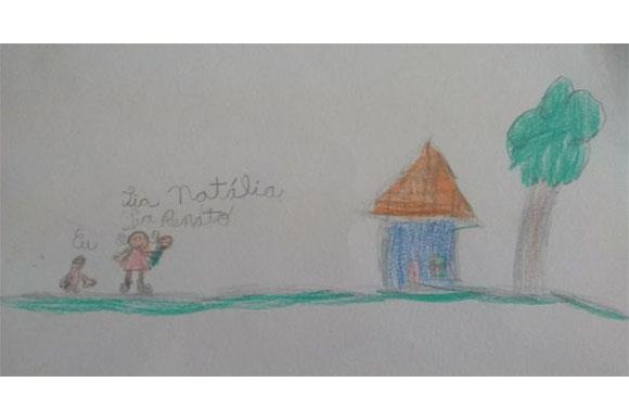 As crianças desenharam a professora com seu futuro bebê (Foto: Reprodução/ Razões para Acreditar)