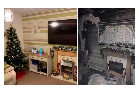 Antes e depois do natal da família Jackson. (Foto/reprodução instagram)