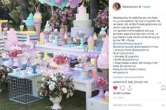 A decoração devia estar mais gostosa que o buffet (Foto: Reprodução/ Instagram)