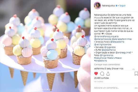 Vários sorvetes! (Foto: Reprodução/ Instagram)
