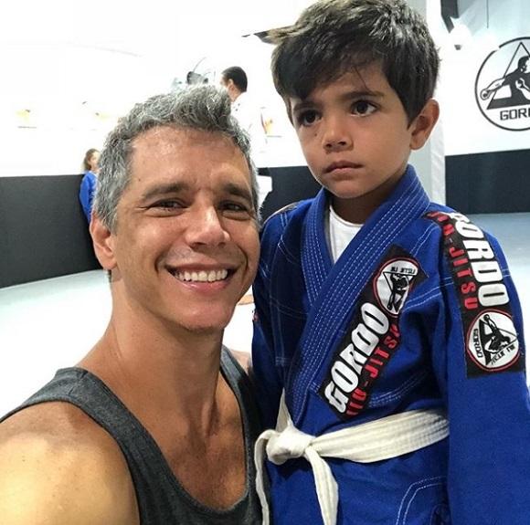 Márcio com o caçula, João, de 4 anos (Foto: Repodução Instagram / @oficialmarciogarcia)