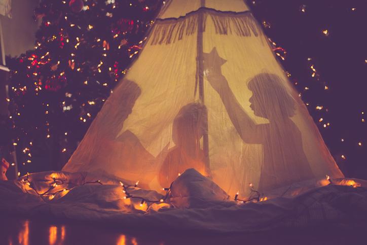 As cabanas criam um espaço mágico para as crianças