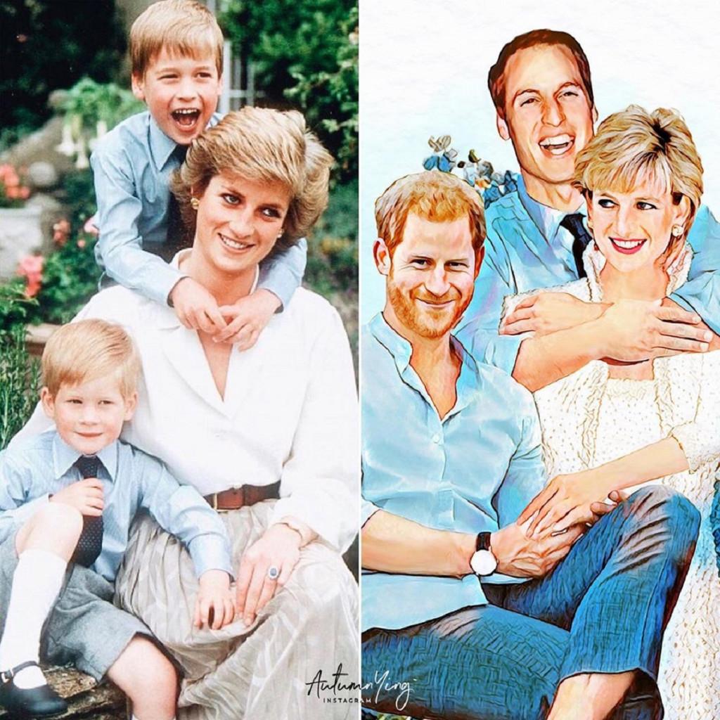 Princesa Diana faria de tudo para apaziguar a relação dos dois príncipes