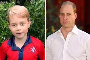 George e o pai, o príncipe William