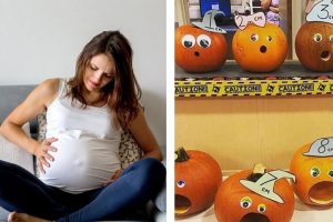 Abóboras e grávida
