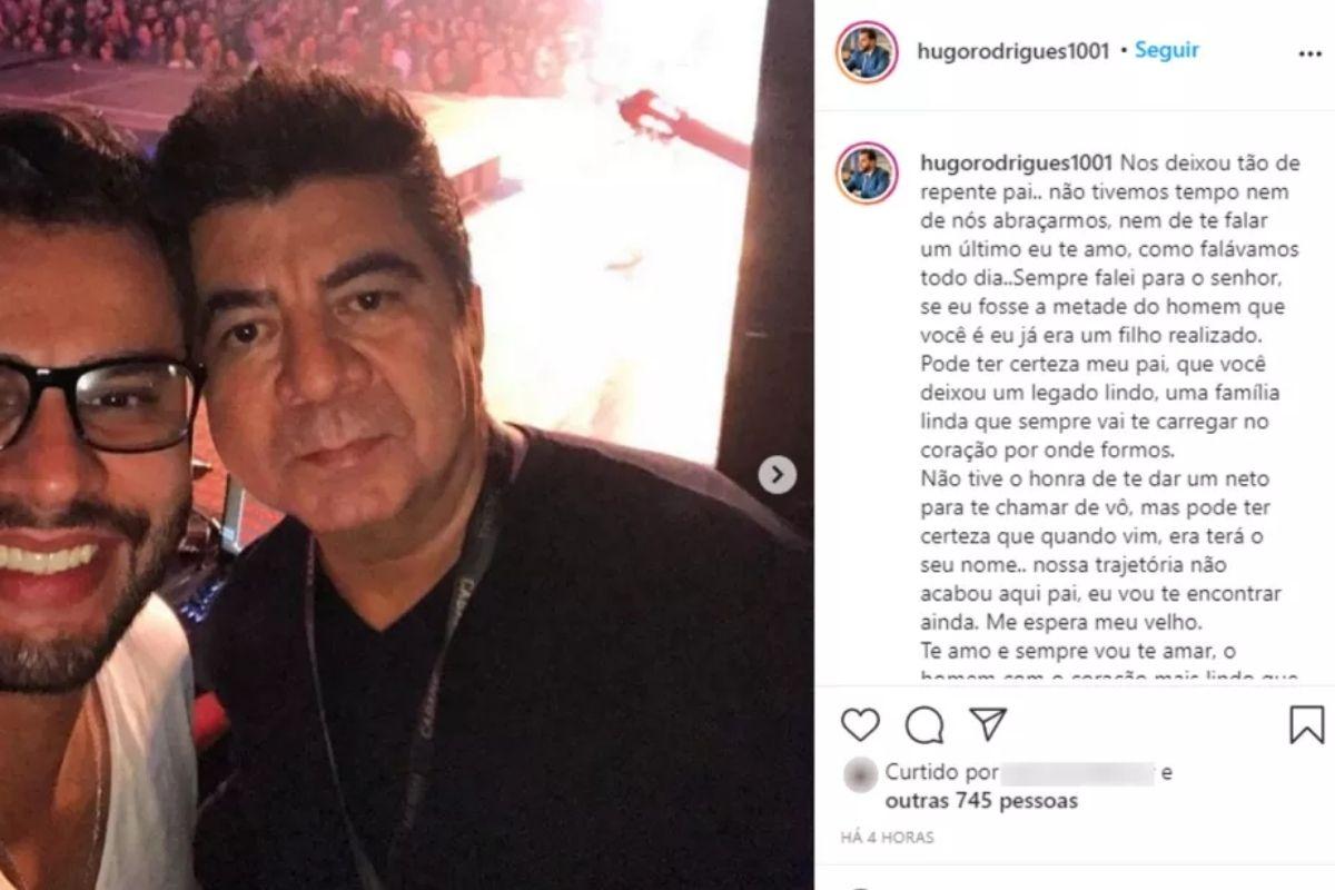 Filho do assessor de Leonardo lamenta a perda do pai em homenagem –  Pais&Filhos
