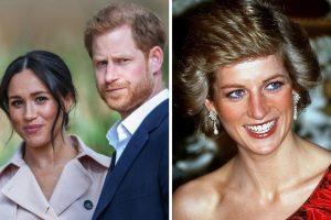 Princesa Diana, príncipe Harry e Meghan