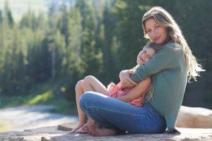 Gisele Bundchen com a filha