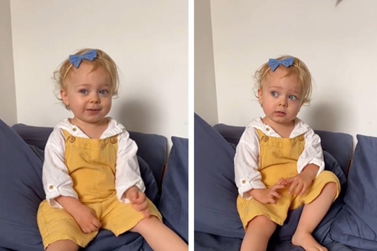 A mãe de Alice revelou que a filha entrará em breve na creche