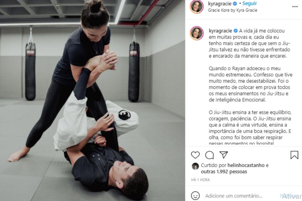Kyra publicou o desabafo no Instagram