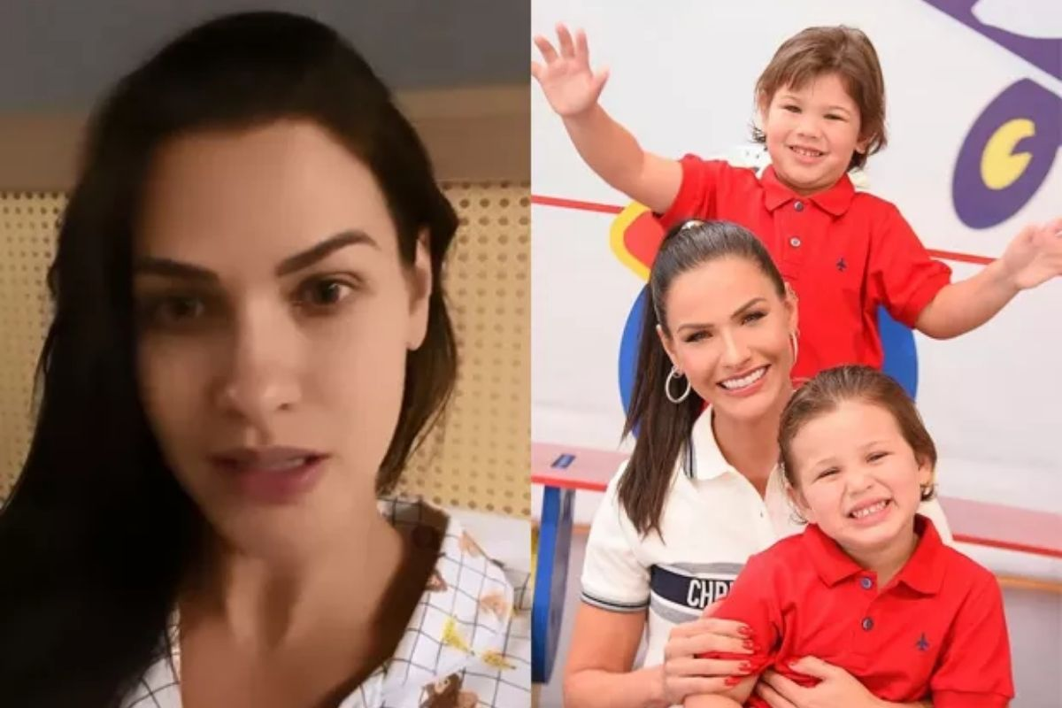 A modelo mandou a real sobre o quadro de saúde das crianças