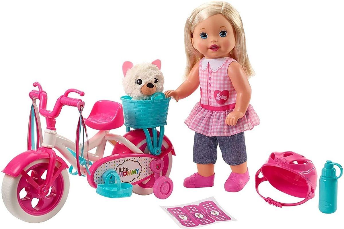 Boneca Little Mommy Meu Primeiro Passeio com bicicleta