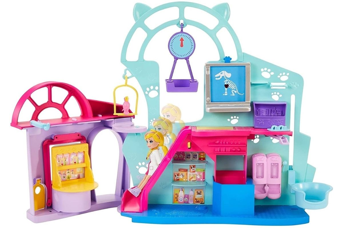 Presentes para o Dia Das Crianças: Polly Pocket Clínica Veterinária - Mattel