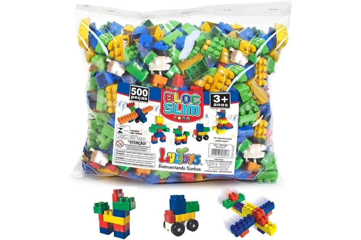 Presente para Dia das Crianças: De Bloco De Montar Bloc Slim Colors - Luc Toys