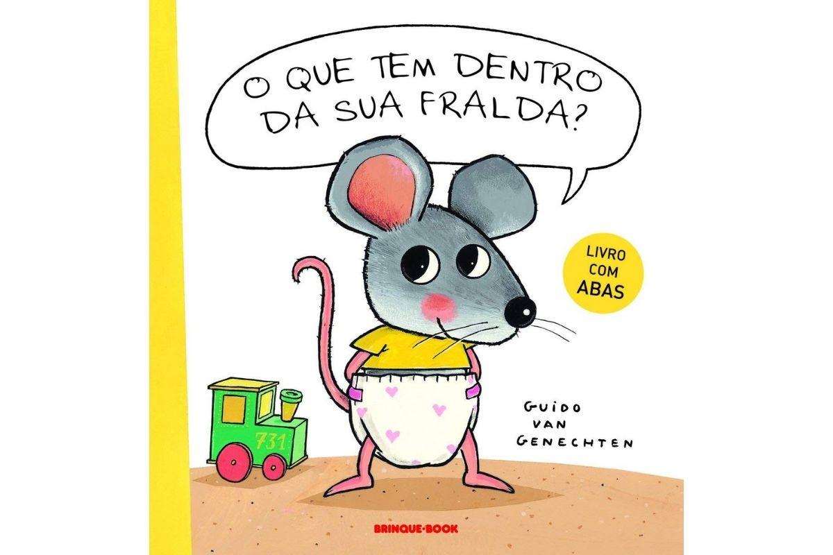 Presente Dia das Crianças: livro O que tem dentro da sua fralda?