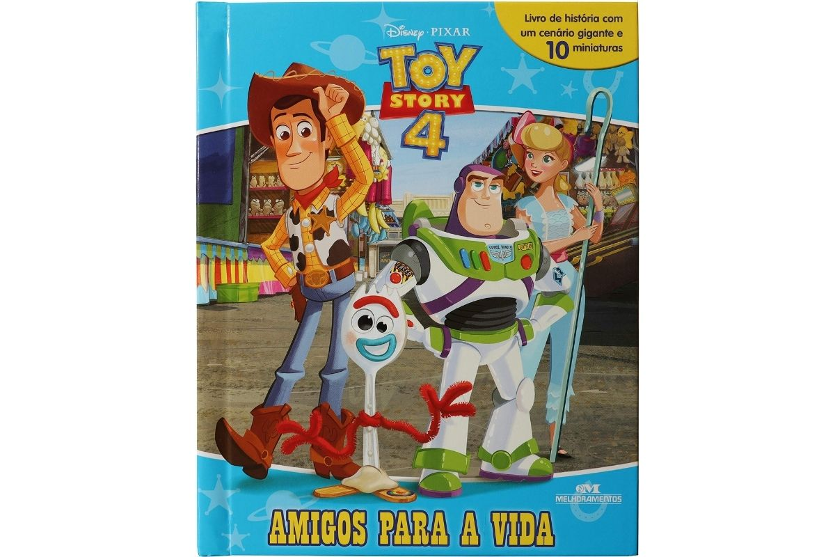 Presente Dia das Crianças: livro Toy Story 4 – Amigos para a Vida
