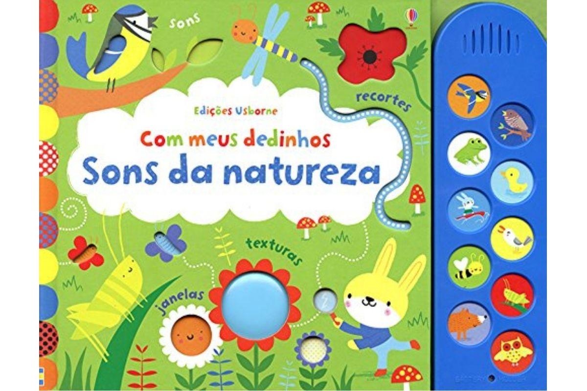 Presente Dia das Crianças: livro Sons da natureza - Com meus dedinhos