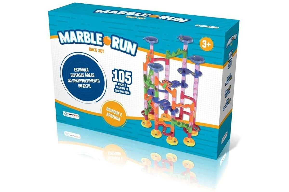 Presente para Dia das Crianças: Brinquedo Marble Run Race Set - Multikids