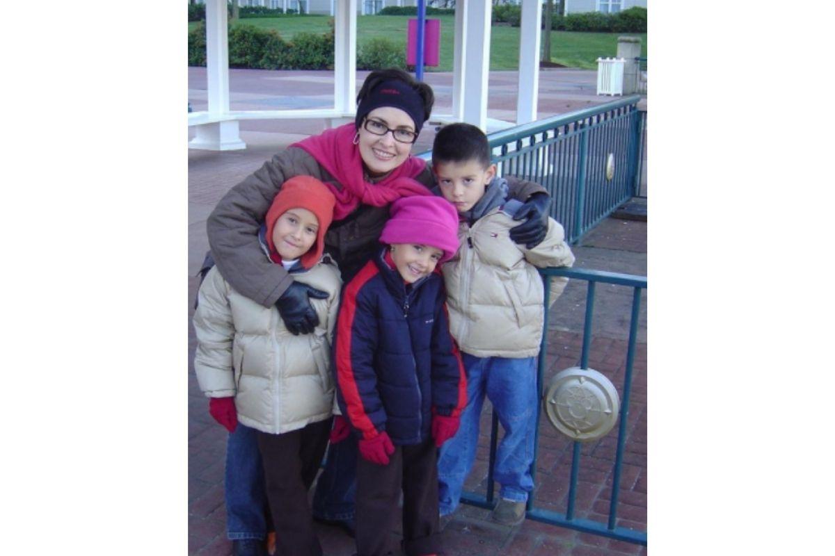 Fátima Bernardes e filhos