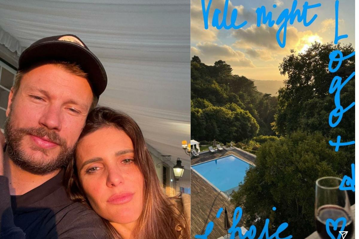 Fernanda Lima postou um Storie com Rodrigo Hilbert curtindo o vale night