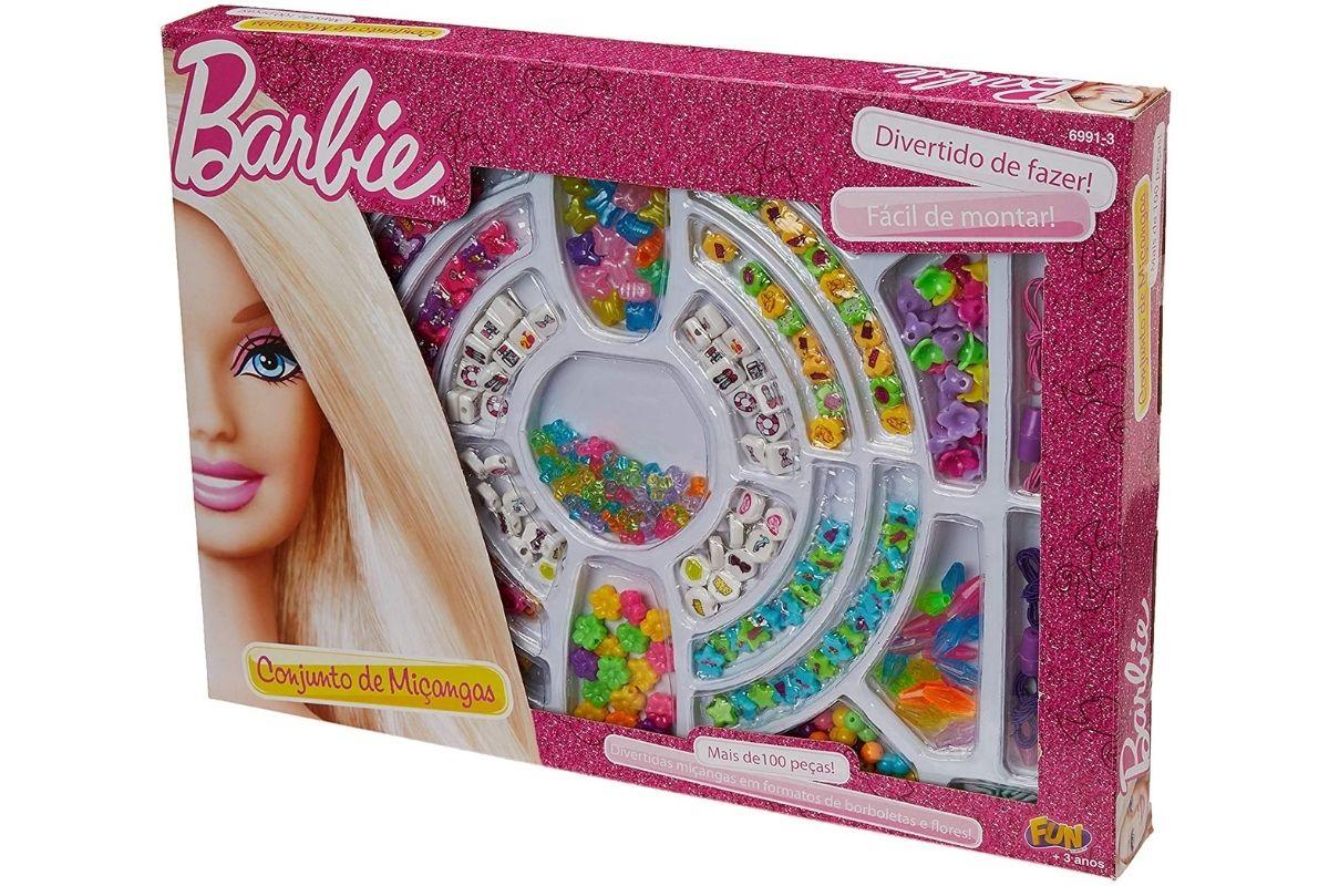 Caixa de Miçanga com 100 Peças - Barbie