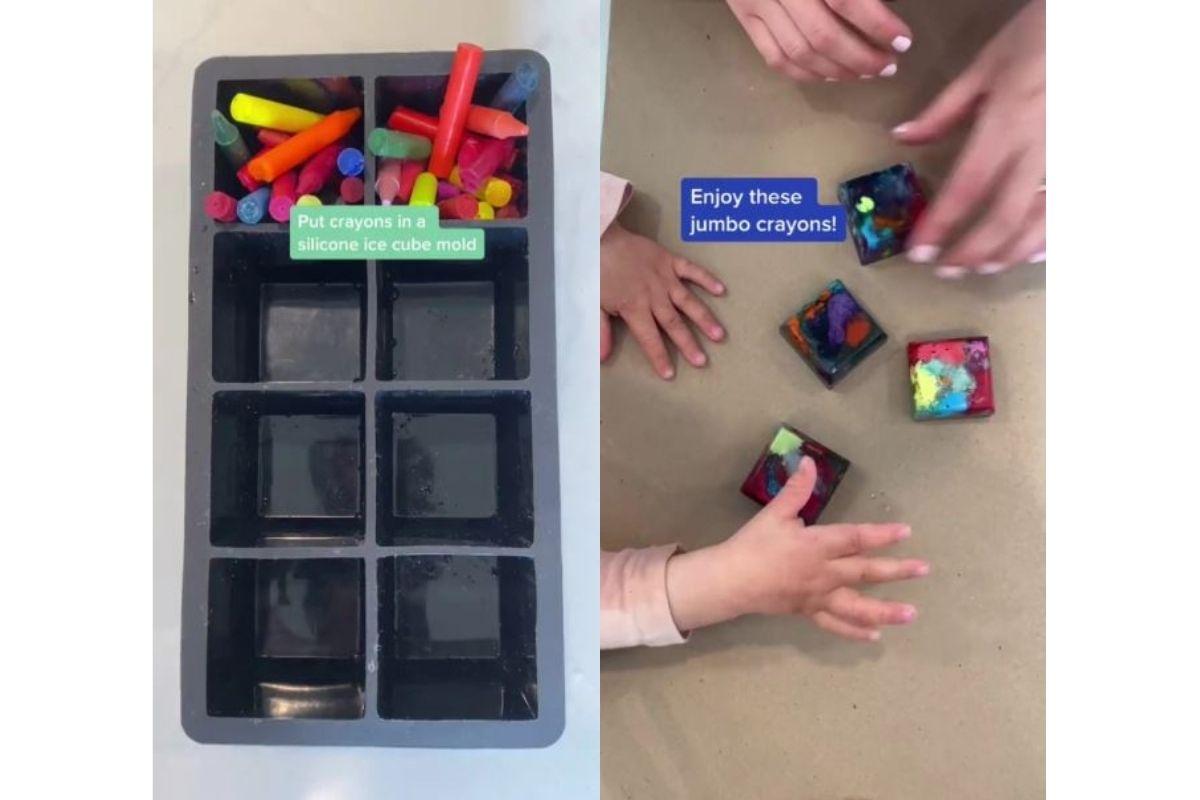 Os gizes de cera ficam com diversas cores e podem ser divertidos para a criança