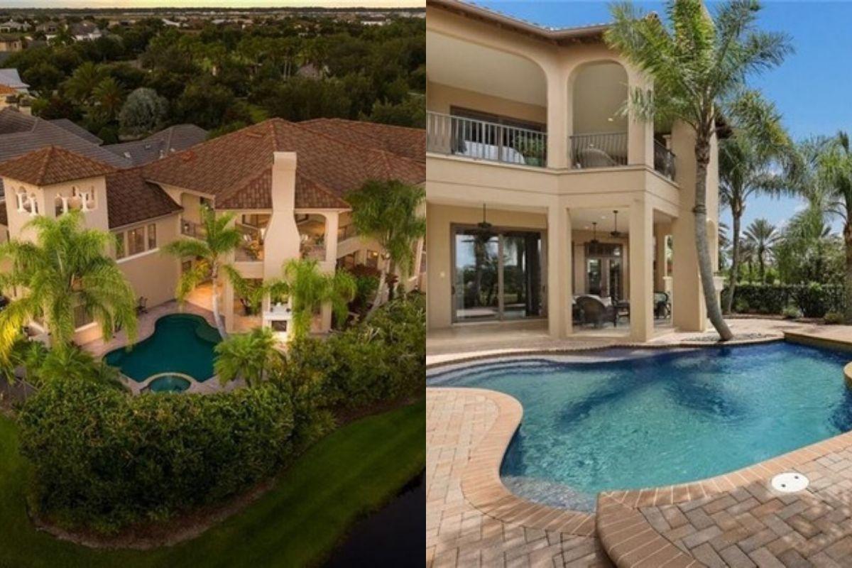 A mansão foi avaliada em 2 milhões de dólares e fica na Flórida