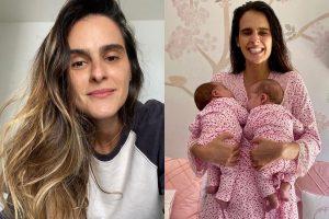 Marcella Fogaça e gêmeas