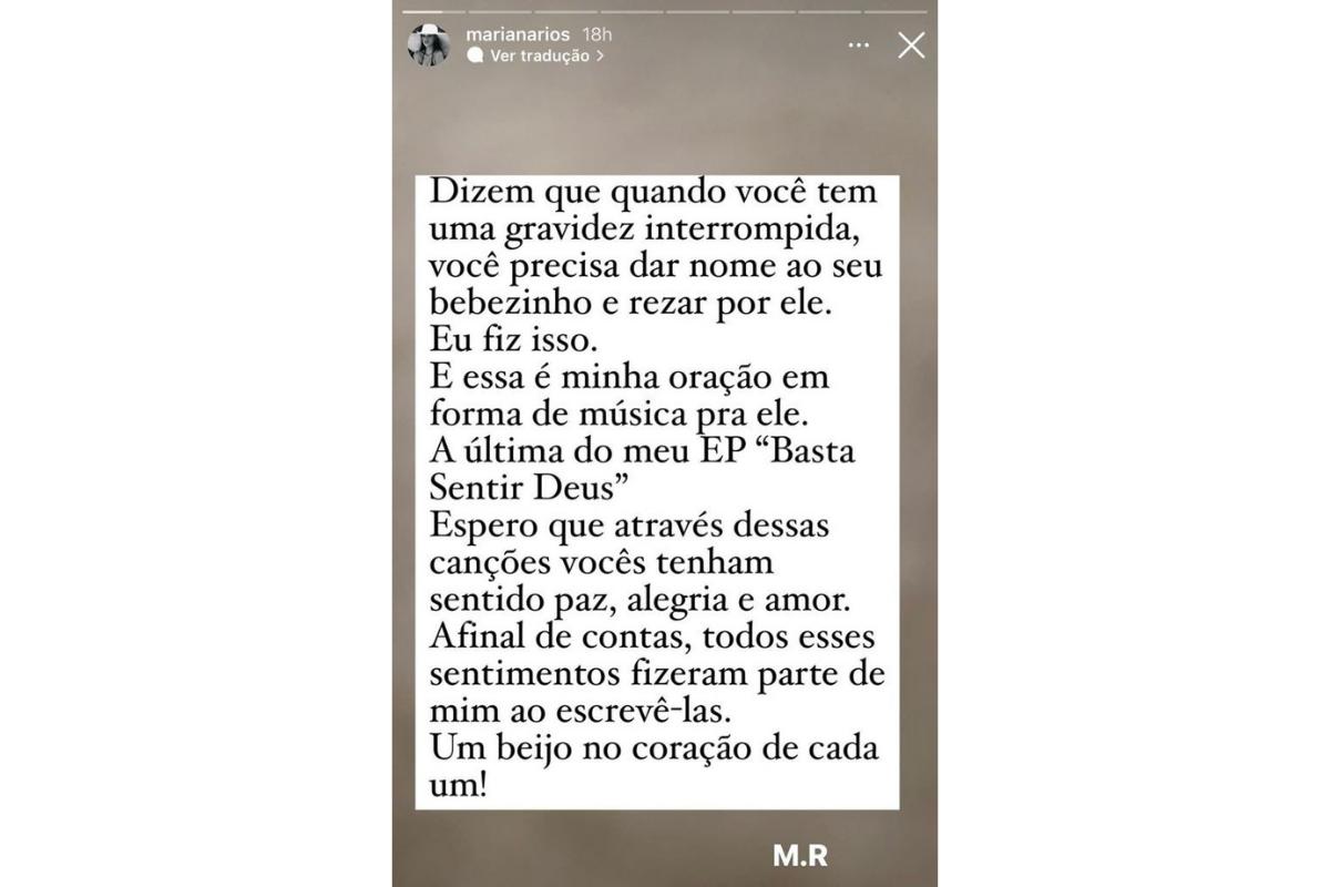 Mariana Rios fez uma música para o filho falecido