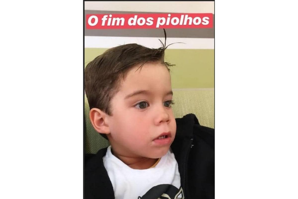Bem já pegou piolho antes e a mãe, Luana Piovani, mostrou tudo no Instagram