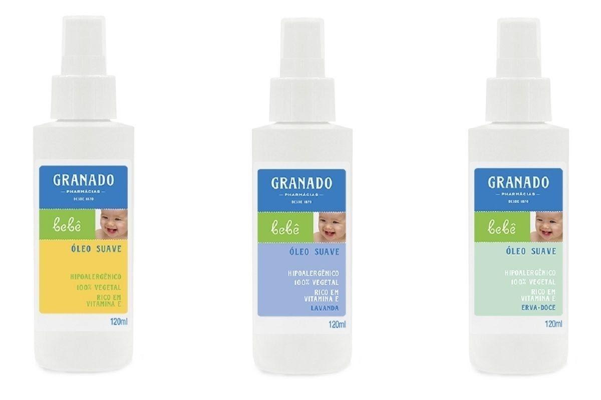 A Granado tem uma linha de óleos suaves, hipoalergênicos e 100% vegetais