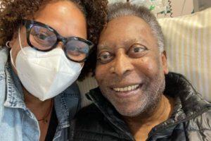 Pelé e a filha, Kely Nascimento