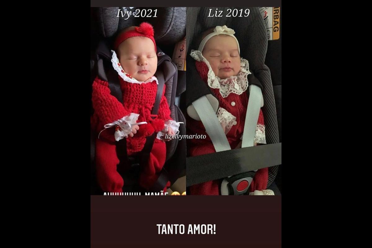 Thaeme comparou Liz e Ivy quando recém-nascidas