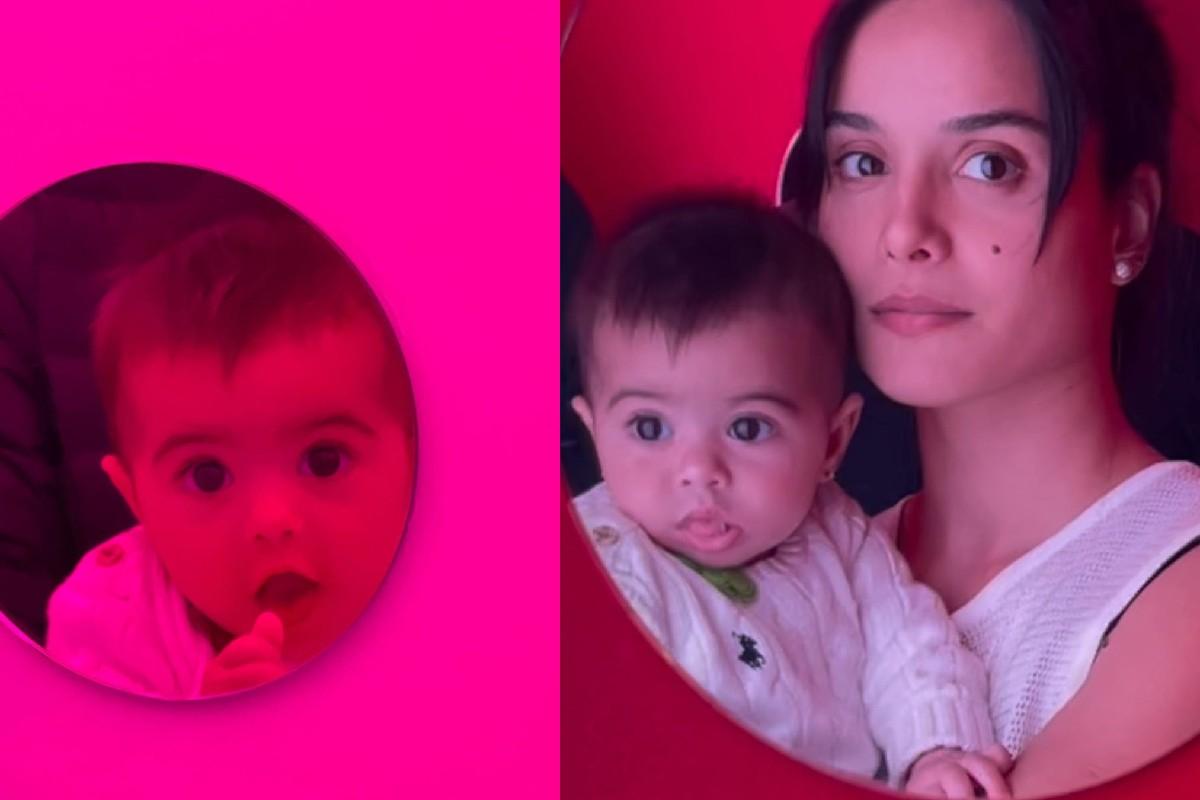 Alana, filha caçula de Fabio Assunção, apareceu ao lado da mãe, Ana Verena