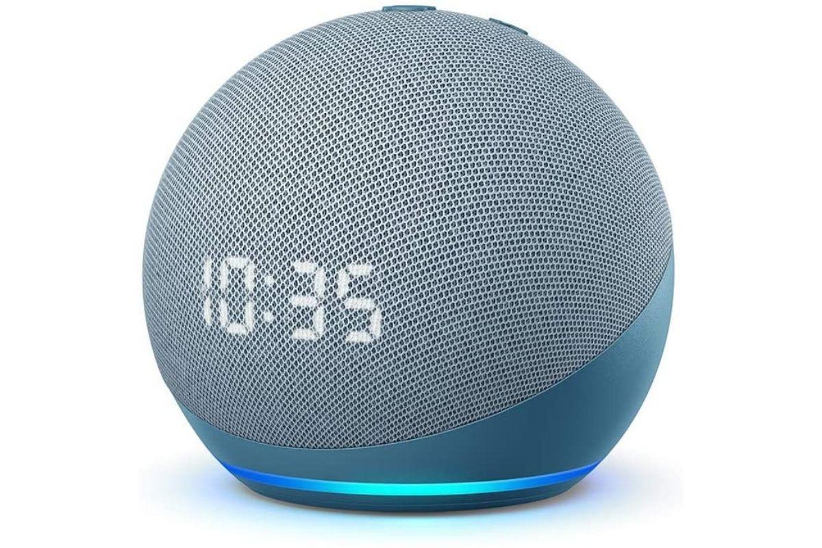 Echo Dot (4ª geração): Smart Speaker com Relógio e Alexa