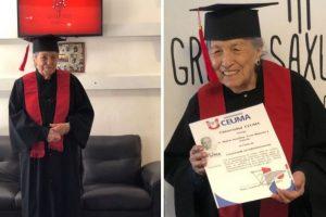 Bisavó de 93 anos realiza sonho de se formar na faculdade e prova que nunca é tarde demais!