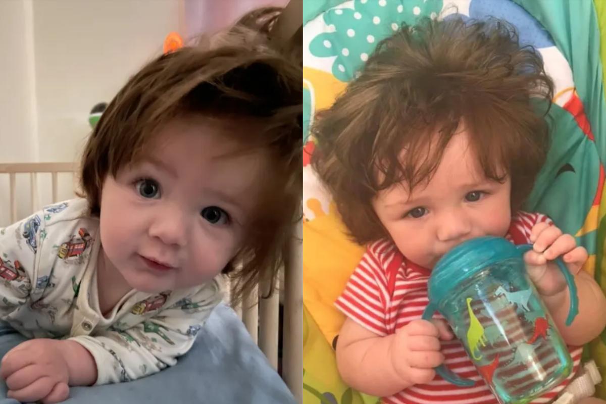 Charlie e a mãe já foram parados mais de 10 vezes devido o cabelo do bebê de 9 meses)