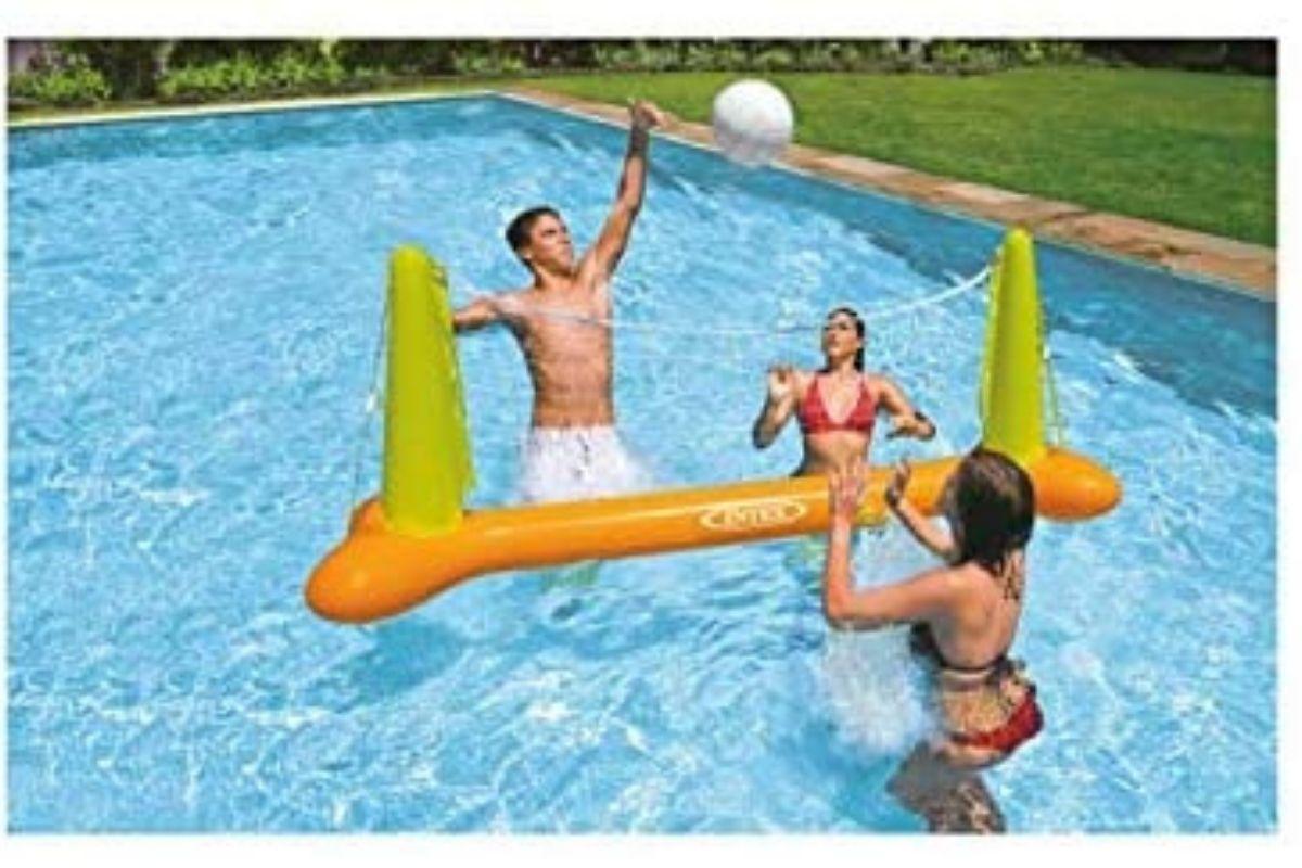 Brinquedos para usar na água: Kit Voleibol de Piscina, Intex (Foto: Divulgação)