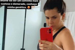 Cacau Colucci rebateu uma crítica sobre a perda de peso após a gravidez
