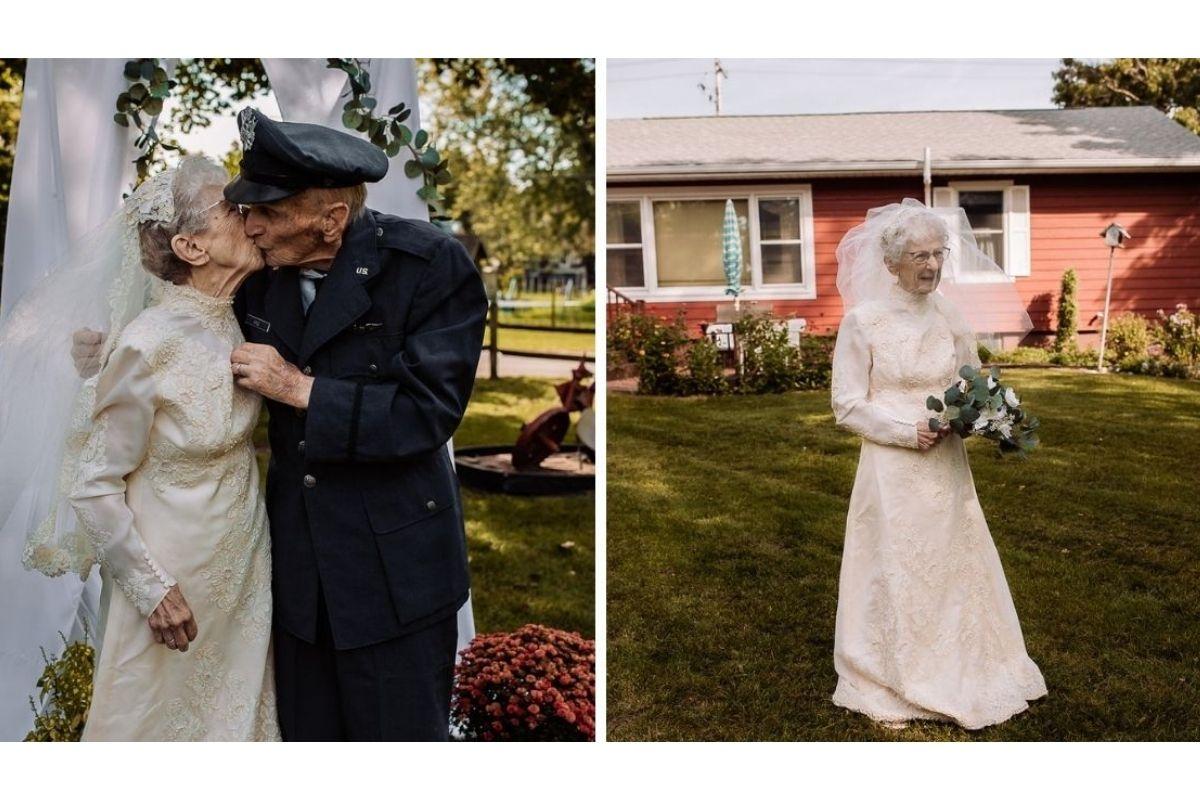 Eles fizeram a cerimônia às pressas em 1944 e agora receberam uma surpresa mais que especial!