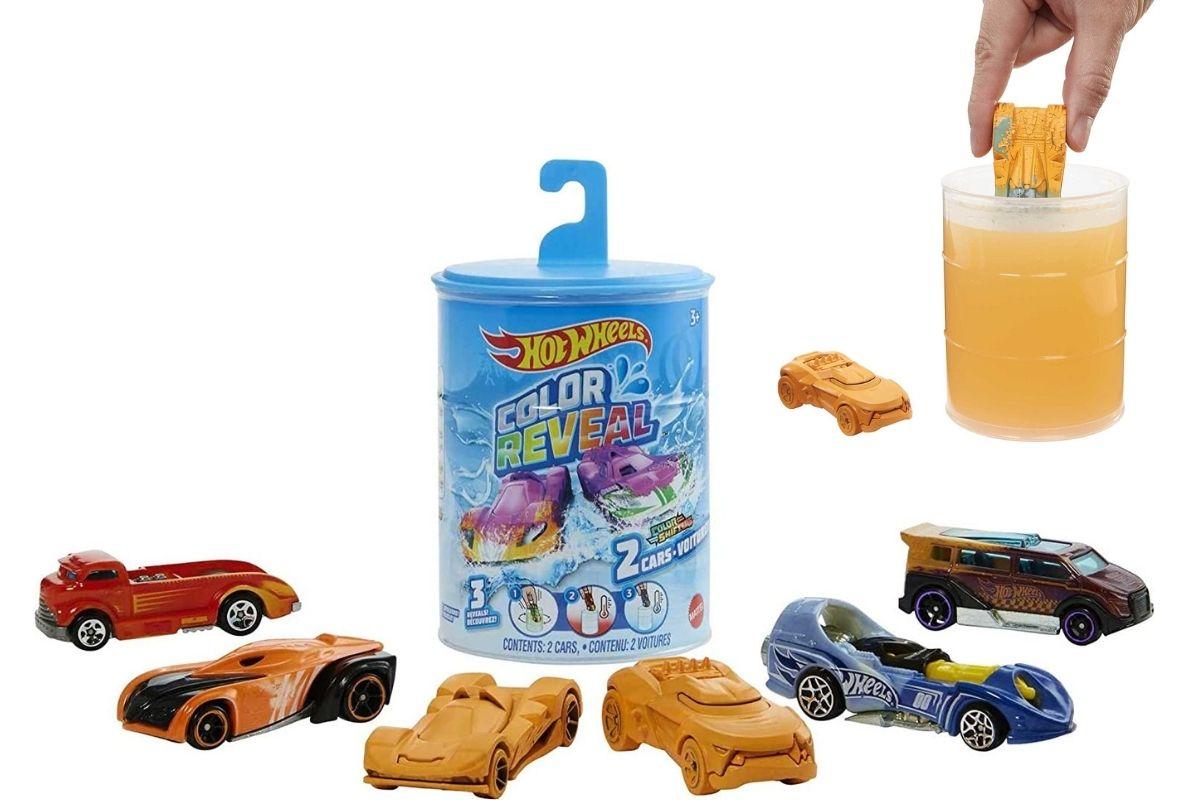 Presente para o Dia das Crianças: Hot Wheels Die Cast Color Reveal - muda de cor na água