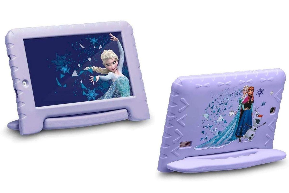 Presente de Dia das Crianças: Tablet Wi-Fi Quad-Core, Disney Frozen, Multilaser