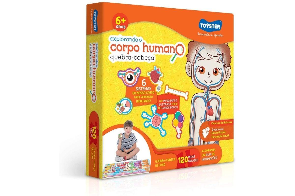 Presente para o Dia das Crianças: Quebra-Cabeça Explorando o Corpo Humano - Toyster Brinquedos