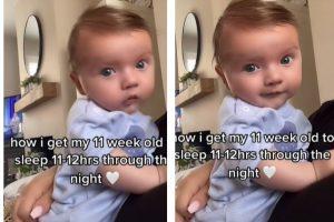 Ela promete que o bebê fique dormindo por 12 horas!